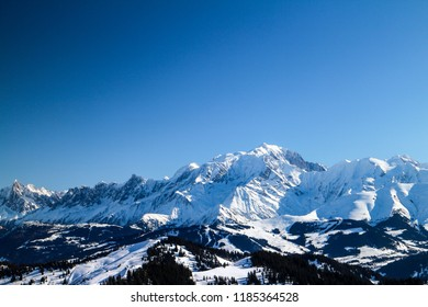 Mont Blanc during winter