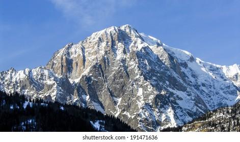 Mont blanc italian view