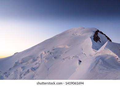 Mont Blanc summit at dawn