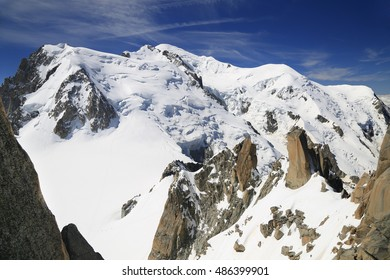 Mont Blanc viewed from Aiguille de Midi,Chamonix, France