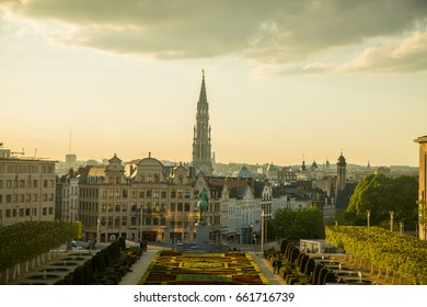 Mont des arts Belgium wonderful of Brussels in the afternoo.