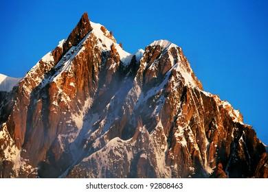 Mont Maudit (4465m) in sunrise light, Haute Savoie, France