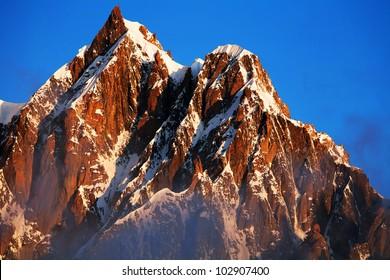 Mont Maudit, Mont Blanc in Haute Savoie, France, Europe