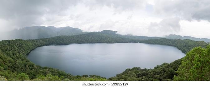 Mont Oku and lake Oku, Cameroon.