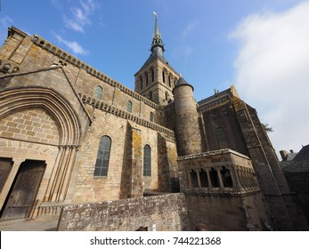 The Mont Saint Michel Abbey is located within the city and island of Mont-Saint-Michel