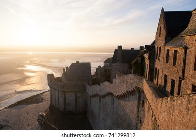 Mont Saint Michel bay taken at dawn. Normandy, France