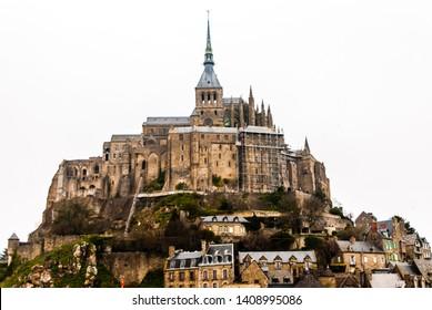 Mont saint michel, France - April 25 2013: Mont Saint Michel in Normandy France