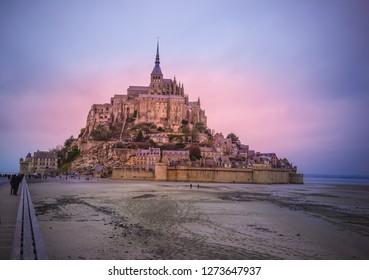 Mont Saint Michel, France. Normandy. Europe
