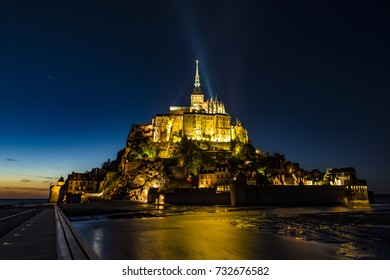 Mont Saint Michel, France (Normandy), by night