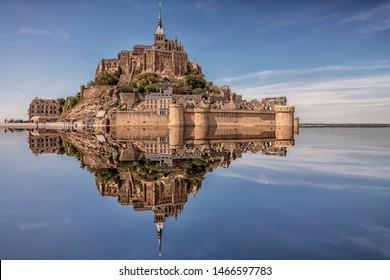 Mont Saint Michel, an UNESCO world heritage site in Normandy, France
