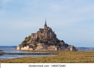 Mont Saint-Michel island at low tide