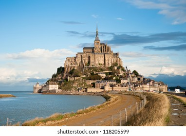 Mont Saint-Michel, Normandy, France. It's one of the most visited tourist sites in France.