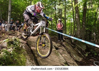 MONT STE-ANNE, QUEBEC, CANADA - AUGUST 11: Downhill Men Elite, 37th place, NZL - MASTERS Wyn, UCI World Cup on Aug. 11, 2013