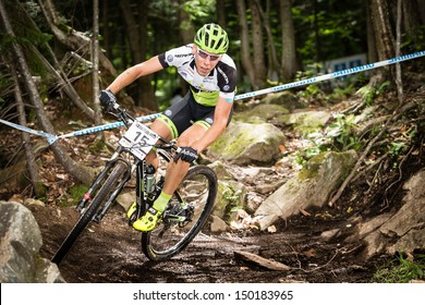 MONT STE-ANNE, QUEBEC, CANADA - August 10: Cross Country Men Elite, SUI - LITSCHER Thomas, UCI World Cup on Aug. 10, 2013