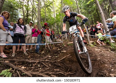 MONT STE-ANNE, QUEBEC, CANADA - August 10: Cross Country Men Elite, 5th place, AUS - MCCONNELL Daniel, UCI World Cup on Aug. 10, 2013