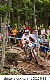 MONT STE-ANNE, QUEBEC, CANADA - August 10: Cross Country Men Elite, 3rd place, SUI - SCHURTER Nino, UCI World Cup on Aug. 10, 2013