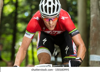 MONT STE-ANNE, QUEBEC, CANADA - August 10: Cross Country Men Elite, 16th place, CZE - KULHAVY Jaroslav, UCI World Cup on Aug. 10, 2013