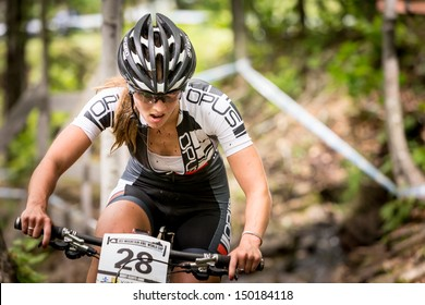 MONT STE-ANNE, QUEBEC, CANADA - August 10: Cross Country Women Elite, 19th place, CAN - PICHETTE Andr���©anne, UCI World Cup on Aug. 10, 2013