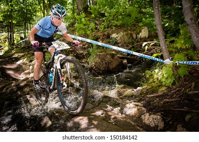 MONT STE-ANNE, QUEBEC, CANADA - August 10: Cross Country Women Elite, 30th place, WOODRUFF Chloe, UCI World Cup on Aug. 10, 2013