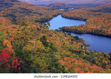 Mont Tremblant National Park with autumn colors, Canada