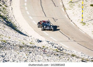 Mont Ventoux, France - June 15, 2018. Mountain top of the Mont Ventoux in the Haute-Provence, France