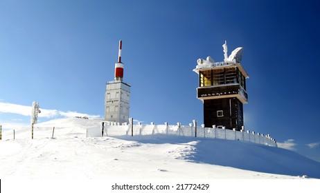 Mont Ventoux summit in winter