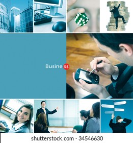 Montage of different corporate related photos - business concepts