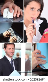 Montage of office life