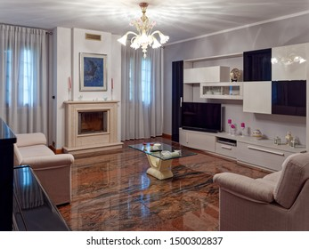 Montagnana, ITALY - August 5, 2019: Interior of an Italian private house