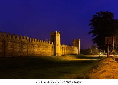 Montagnana medieval town in Italy - architecture background