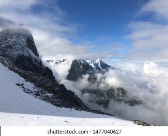Montain view of Grands Montets in  september at Chamonix Mont Blanc