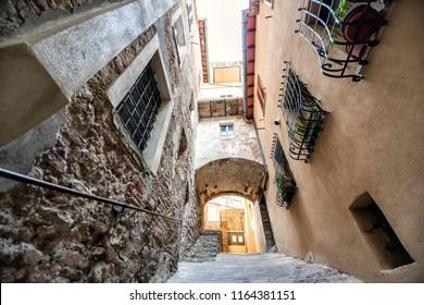 Montalcino, ancient center of city. Tuscany holidays. Italy holidays in Tuscany, Italy, Europe. Vacation in beautiful Italy.