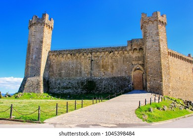 Montalcino Fortress in Tuscany, Italy. The fortress was built in 1361 atop the highest point of the town.
