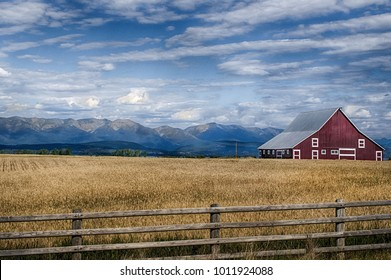 Montana Countryside Barn