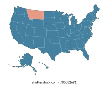 Montana state - Map of USA