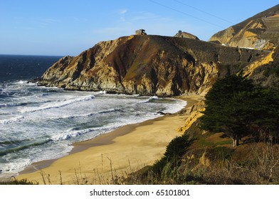 Montara State Beach near McNee Ranch State Park in California.