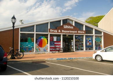 MONTAUK, NEW YORK-JUNE 8: White's Drug & Department Store is seen in Montauk, New York on June 8, 2018.