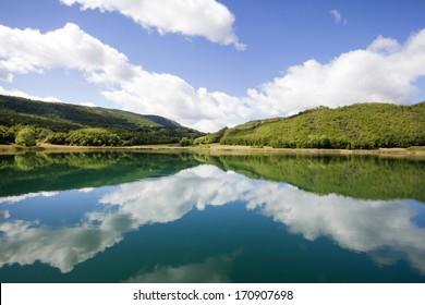 Montcortes lake in Baix Pallars, Catalonia, Spain