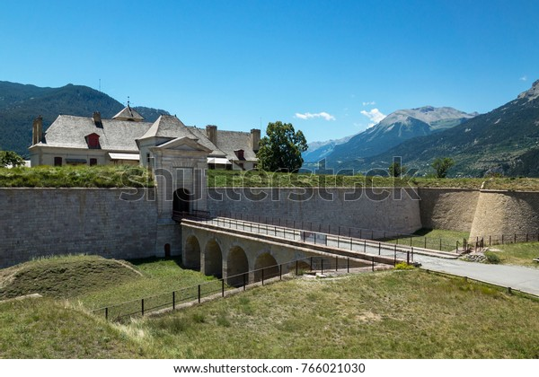 Mont-Dauphin fortress in French Alps region, near city of Gap. Vauban heritage, Unesco listed.