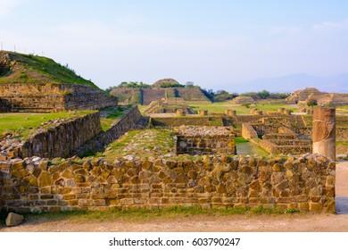 Monte Alban, ancient town of Zapotecs, Mexico