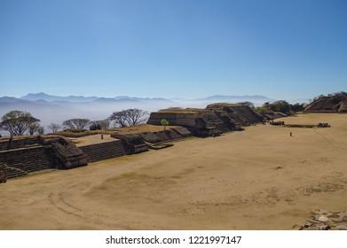 Monte Alban - the ruins of the Zapotec civilization in Oaxaca, Mexico