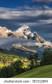 Monte Antelao (3263m) above San Vito di Cadore (close to Cortina d'Ampezzo), is the second highest mountain in Dolomiti, also known as the King of the Mountains, South Tyrol, Italy.