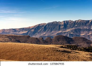 Monte Baldo and Plateau of Lessinia, Regional Natural Park, Italian Alps near Verona and lake Garda, Veneto, Italy
