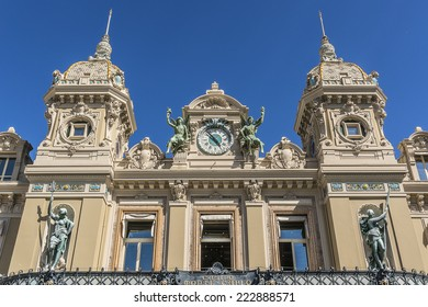 Monte Carlo Casino (architect Charles Garnier) is a gambling and entertainment complex includes a Casino and Grand Theater de Monte Carlo. Monaco.
