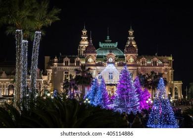 Monte Carlo Casino at Christmas