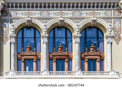 Monte Carlo Casino is a gambling and entertainment complex located in Monte Carlo, Monaco. Complex includes a casino and Grand Theatre de Monte Carlo. Architect - Charles Garnier. Fragment of Opera.