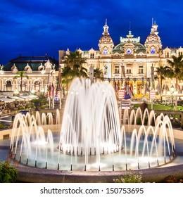 The Monte Carlo Casino in Monte Carlo, Monaco, Cote de Azul, France, Europe, includes a casino, the Grand Theatre de Monte Carlo, and the office of Les Ballets de Monte Carlo.