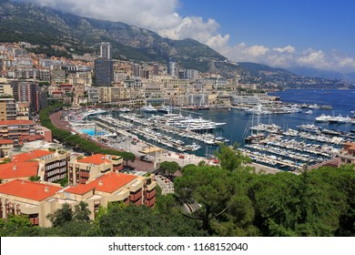 Monte Carlo Harbor in Monaco, Europe