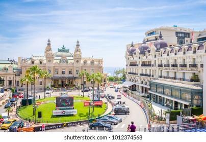 MONTE CARLO, MONACO 24 MAY 2017: Beautiful Casino de Monte-Carlo in Monte Carlo, Monaco