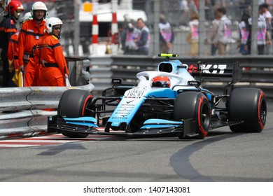 Monte Carlo, Monaco - 25th May , 2019. Robert Kubica of ROKiT Williams Racing in the paddock during the F1 Grand Prix of Monaco